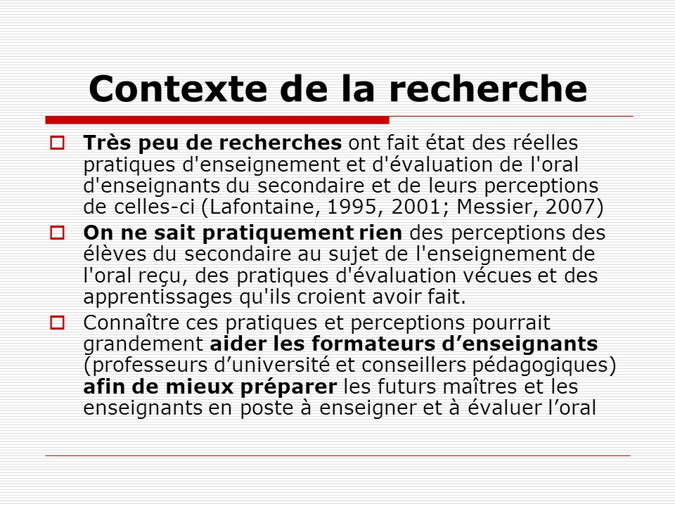 Activités doral pratiquées en classe (suite) ÉLÈVES production orale + 1- Exposés: individuels (95%) équipe (98%) explicatif (62%) critique (51%) 2- Discussion (71,6%) 3- Échange en grand groupe (64,4%) Production orale – Audioguide (96,8%) Jeu de confrontation (92,6%) Entretien critique (92,4%) ENSEIGNANTS production orale + 1- Exposés: individuels (100%) équipe (90,9%) 2- Échange en grand groupe (90,9%) Discussion (72,76%) Production orale – Audioguide (100%) Jeu de confrontation (100%) Entretien critique (100%) Capsule radio (100%)