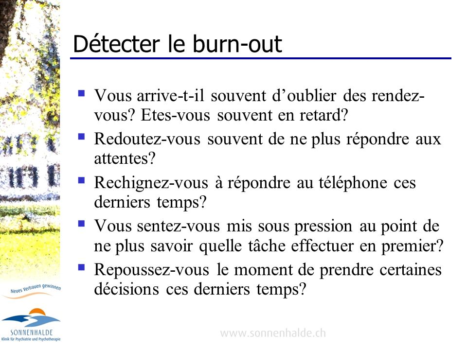 BURN-OUT, signal dalarme de lâme.