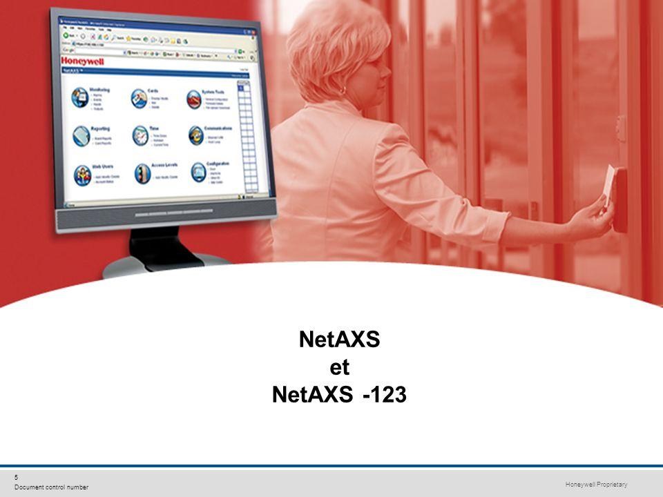 Honeywell Proprietary Honeywell.com 5 Document control number NetAXS et NetAXS -123
