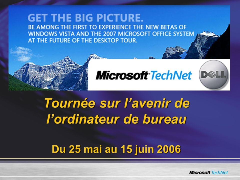 Tournée sur lavenir de lordinateur de bureau Du 25 mai au 15 juin 2006