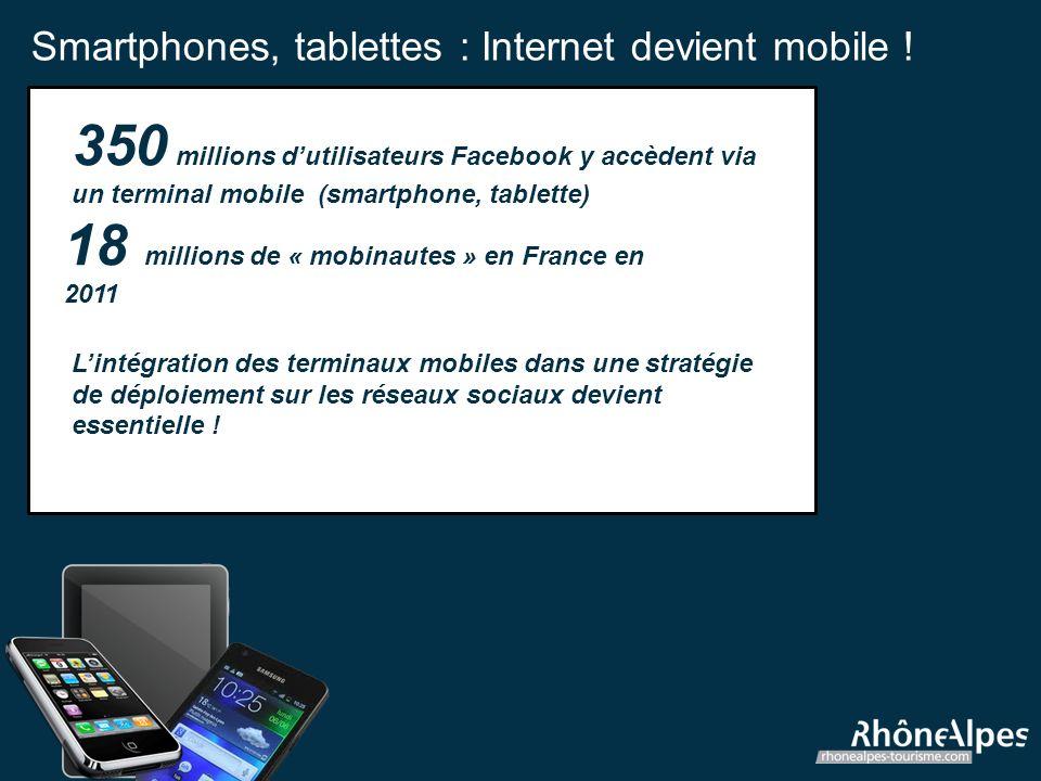 Smartphones, tablettes : Internet devient mobile .