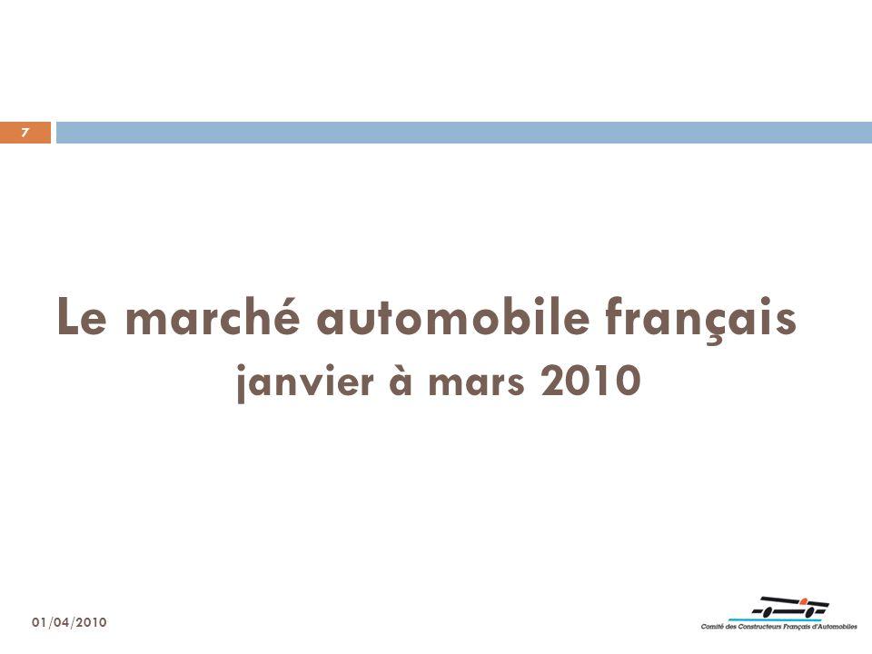 7 Le marché automobile français janvier à mars 2010 01/04/2010