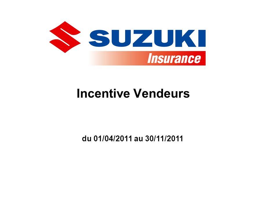 Incentive Vendeurs du 01/04/2011 au 30/11/2011