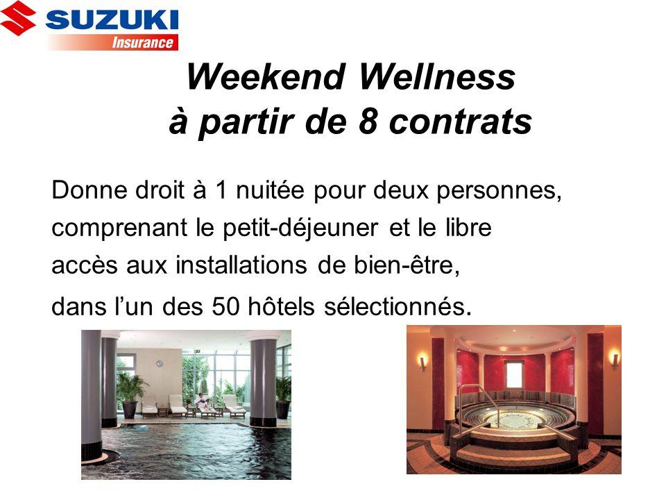 Donne droit à 1 nuitée pour deux personnes, comprenant le petit-déjeuner et le libre accès aux installations de bien-être, dans lun des 50 hôtels séle