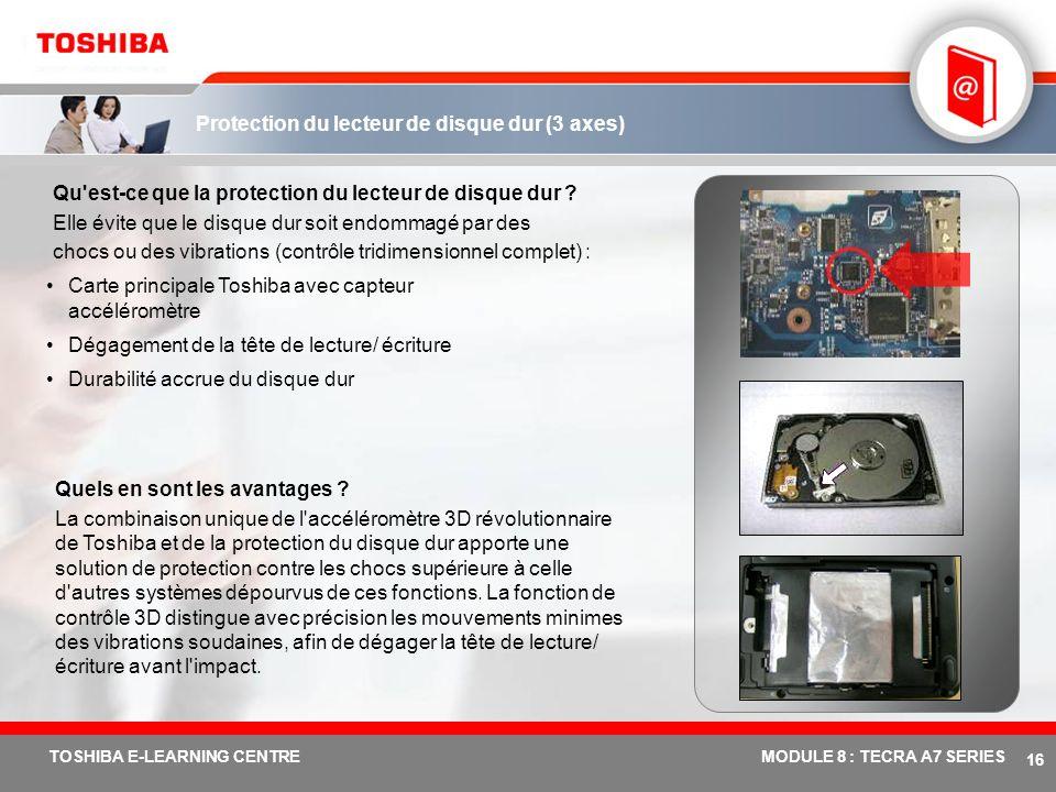 # 15 TOSHIBA E-LEARNING CENTREMODULE 8 : TECRA A7 SERIES Antenne Diversity Qu'est-ce que l'antenne Diversity ? En réalité, cette innovation Toshiba se