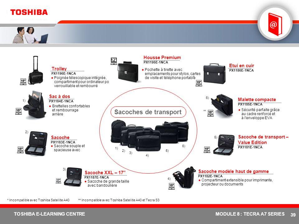 # 38 TOSHIBA E-LEARNING CENTREMODULE 8 : TECRA A7 SERIES Support pour ordinateur portable Ergo-T340 PX1192E-1PRP Positionne l'écran de l'ordinateur po
