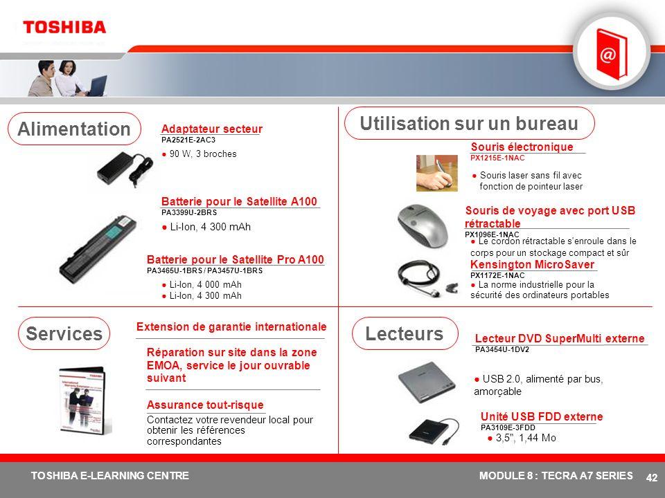 # 41 TOSHIBA E-LEARNING CENTREMODULE 8 : TECRA A7 SERIES Tuner TV USB DVB-T PX1211E-1TVD Télévision terrestre numérique compatible DVB-T gratuite, ant