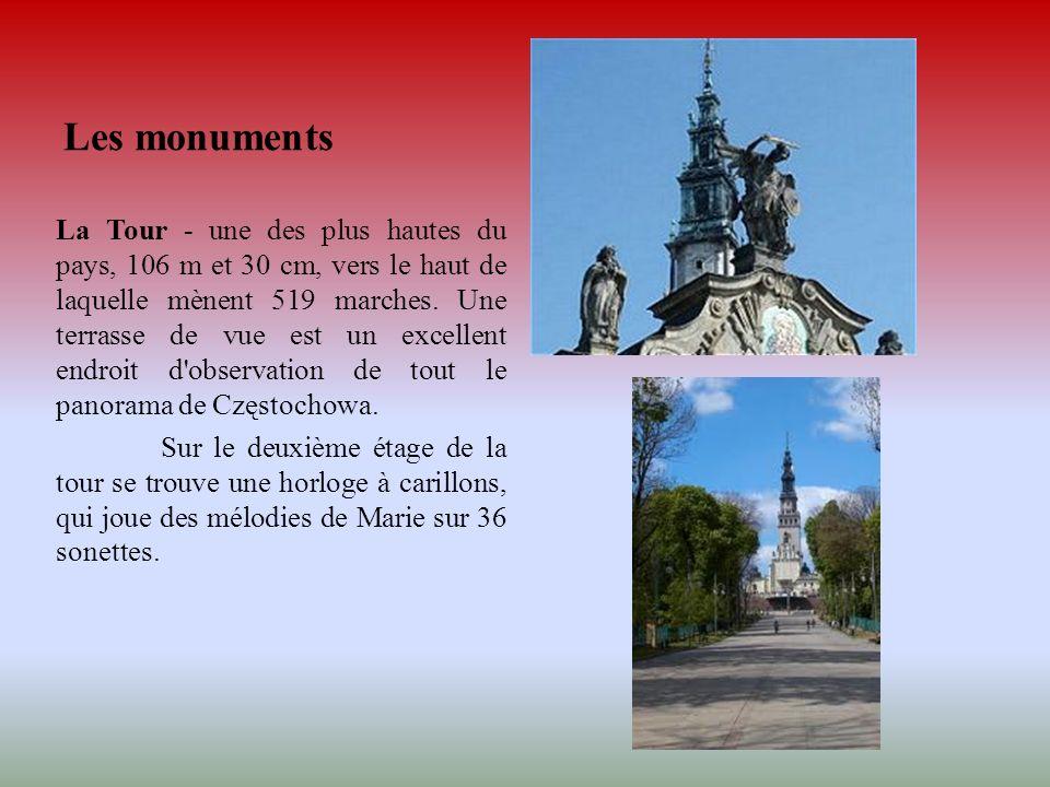 Les monuments La Tour - une des plus hautes du pays, 106 m et 30 cm, vers le haut de laquelle mènent 519 marches. Une terrasse de vue est un excellent