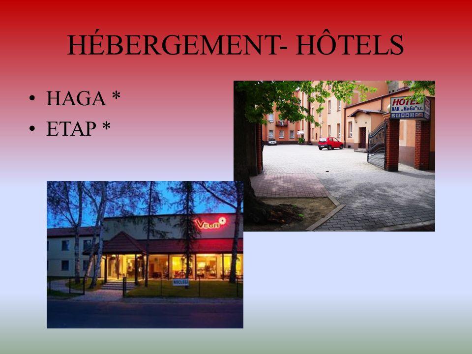 HÉBERGEMENT- HÔTELS HAGA * ETAP *