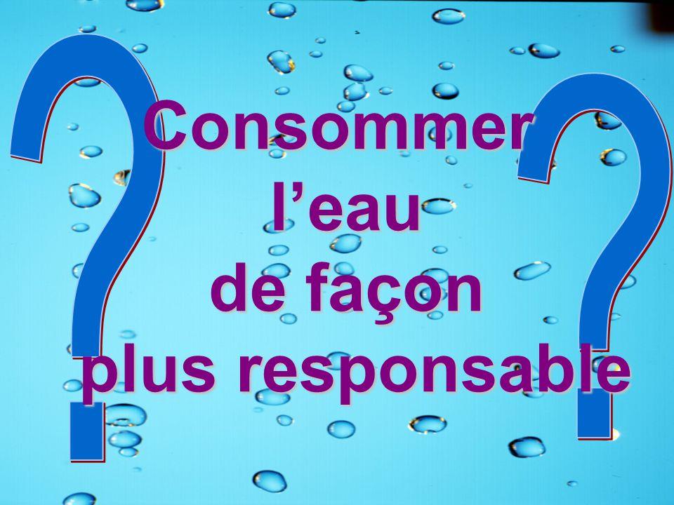 Consommer leau de façon plus responsable