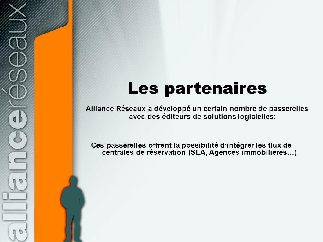 Les partenaires Alliance Réseaux a développé un certain nombre de passerelles avec des éditeurs de solutions logicielles: Ces passerelles offrent la p
