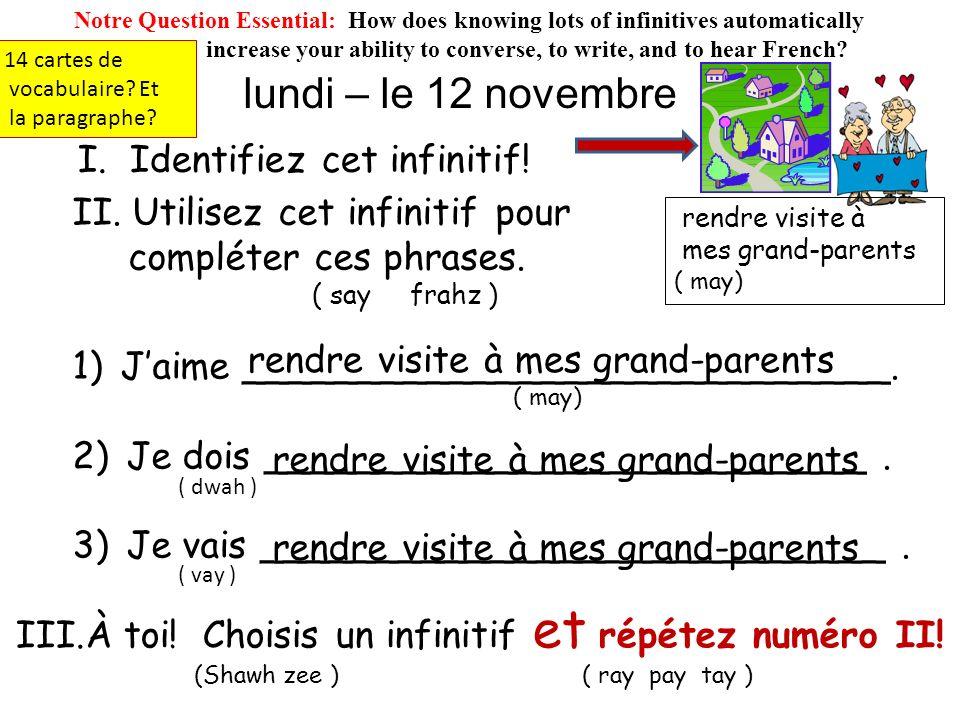 3) tondre le gazon ( tõhn druh luh gaaa zõh ) *** Les Travaux à la maison *** ( lay traaaa voe may zõh ) ( Chores at the house / at home ) Une feuille.