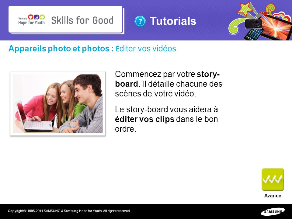 Tutorials Copyright ©: SAMSUNG & Samsung Hope for Youth.