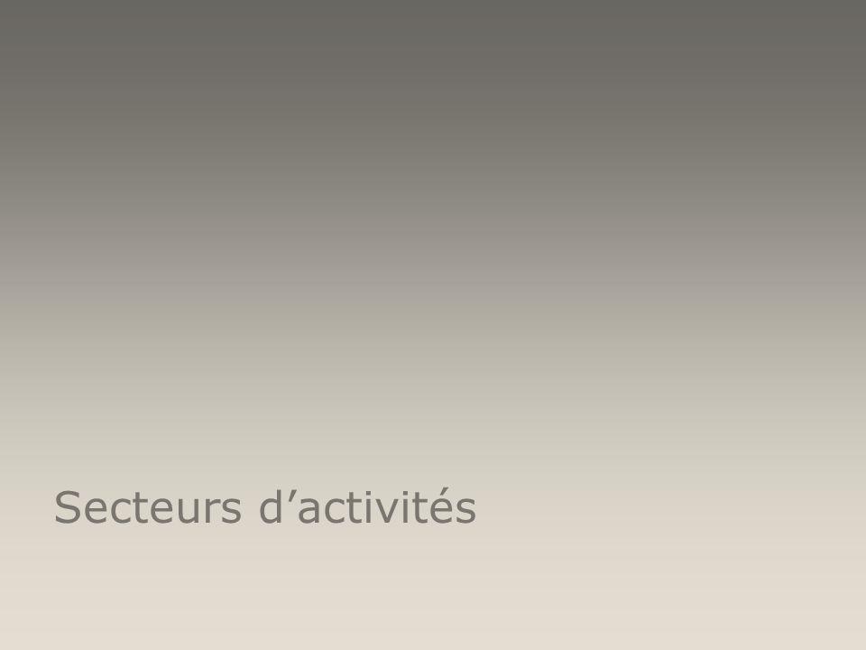 13 secteurs représentés par des comités: Aéronautique Santé TIC Sécurité Energies Transport Industries automobiles Biens de consommation Agroalimentaire/Agro-industrie Education/Formation Environnement Infrastructures/Bâtiment Tourisme