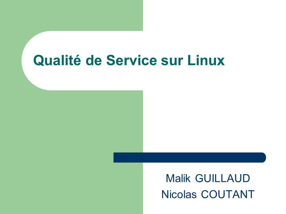 Qualité de Service sur Linux Malik GUILLAUD Nicolas COUTANT