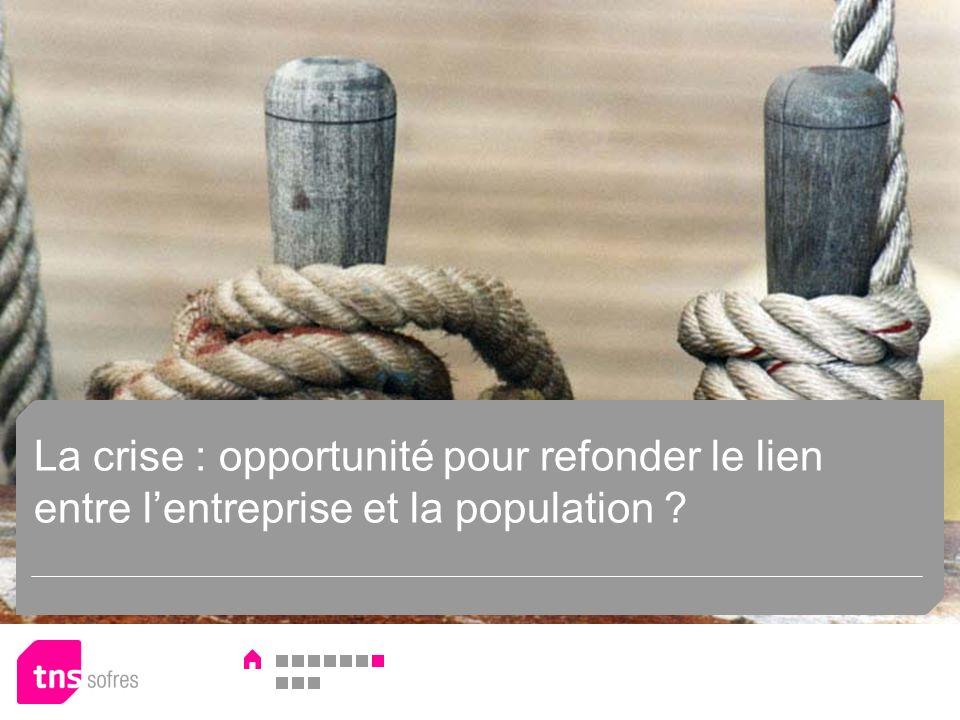 La crise : opportunité pour refonder le lien entre lentreprise et la population
