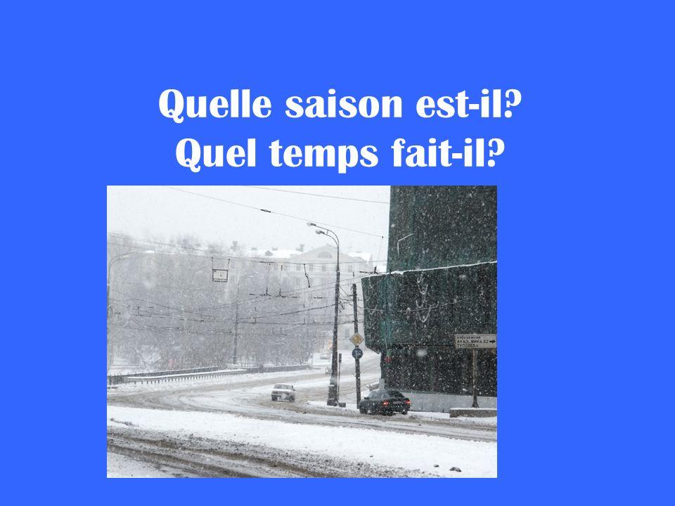 Quelle saison est-il? Quel temps fait-il?