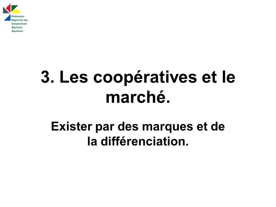 3. Les coopératives et le marché. Exister par des marques et de la différenciation.