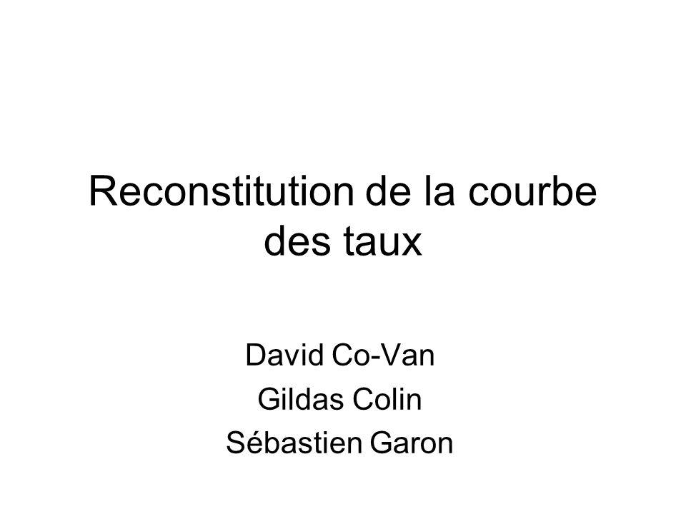 Reconstitution de la courbe des taux David Co-Van Gildas Colin Sébastien Garon