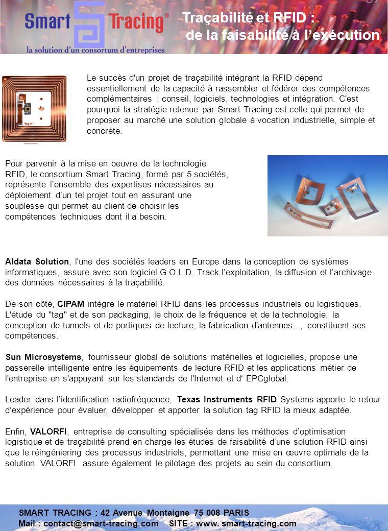 SMART TRACING : 42 Avenue Montaigne 75 008 PARIS Mail : contact@smart-tracing.com SITE : www.