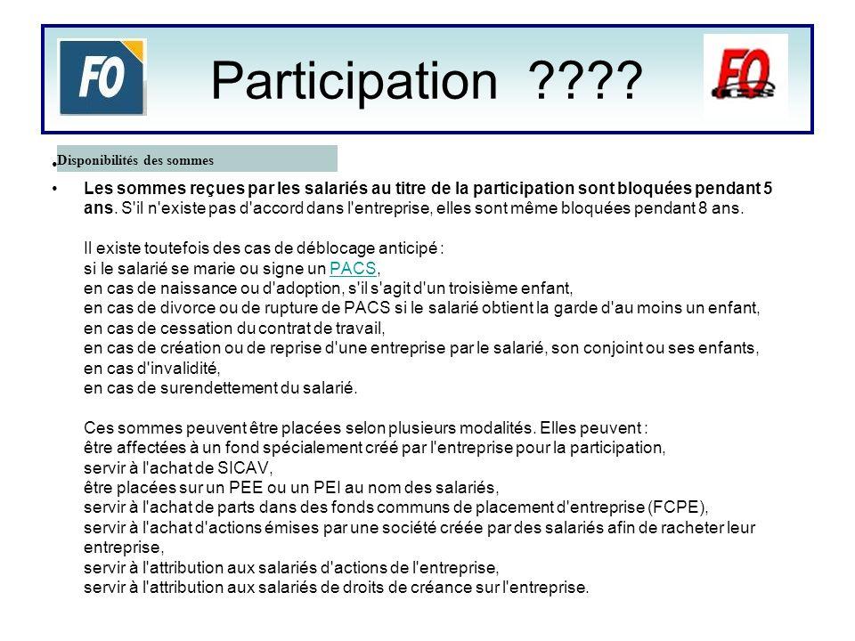 État des lieux La règle REX : Revenu dexploitation (Bénéfice réel avant mouvement comptable et fiscal) REF : Revenu fiscal ou Bénéfice fiscal (B) CA : Chiffres daffaires RSP : Réserve de participation ( Somme allouée à la répartition issue de la formule légale de calcul de la participation ) Formule légale Participation (RSP) = [0.5 * (REF – 5 % (CP ) * S/VA ) Formule En cours Participation (RSP) = [0.5 * (REF – 5 % (CP ) * S/VA ) * 1.15 La RSP est déterminée conformément à la formule légale augmenter dun coefficient de majoration de 1.15 augmentant de 15% le RSP.