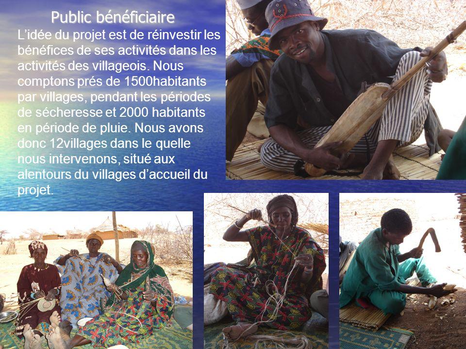 Public bénéficiaire Lidée du projet est de réinvestir les bénéfices de ses activités dans les activités des villageois.