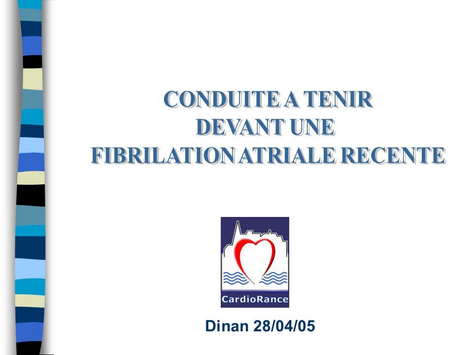 Objectifs: - protocole duniformisation relative de la prise en charge de la FA au sein du secteur 6 - harmonisation des pratiques destinée aux médecins généralistes, cardiologues libéraux ou hospitaliers Quelles arythmies.