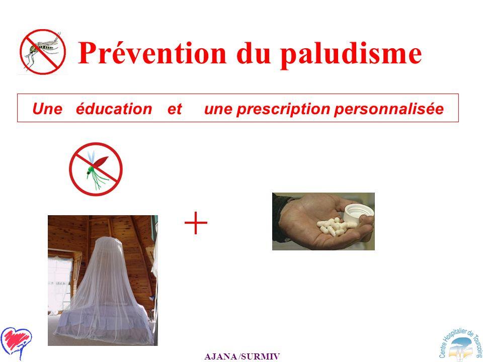 AJANA /SURMIV Prévention du paludisme Une éducation et une prescription personnalisée