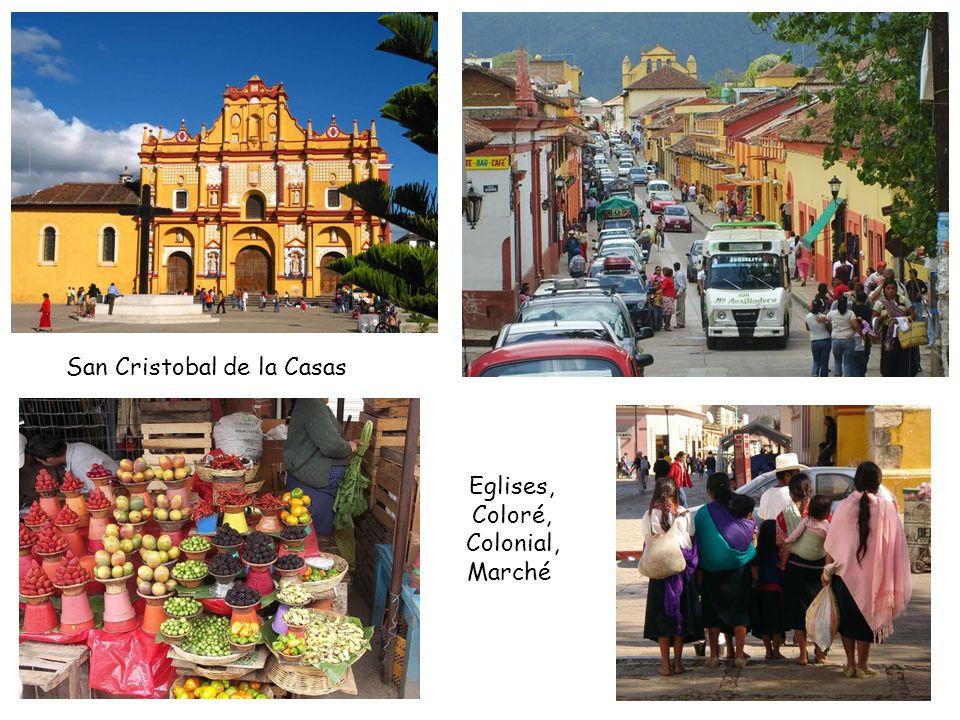 San Cristobal de la Casas Eglises, Coloré, Colonial, Marché