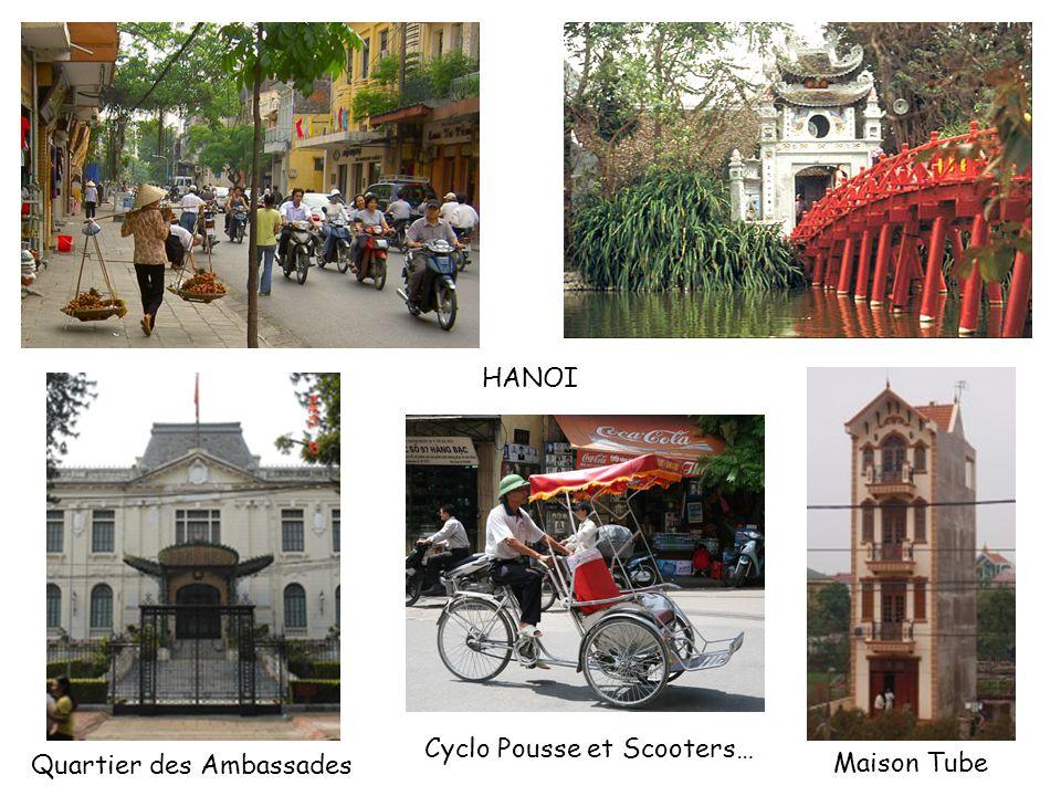 Cyclo Pousse et Scooters… Quartier des Ambassades Maison Tube HANOI