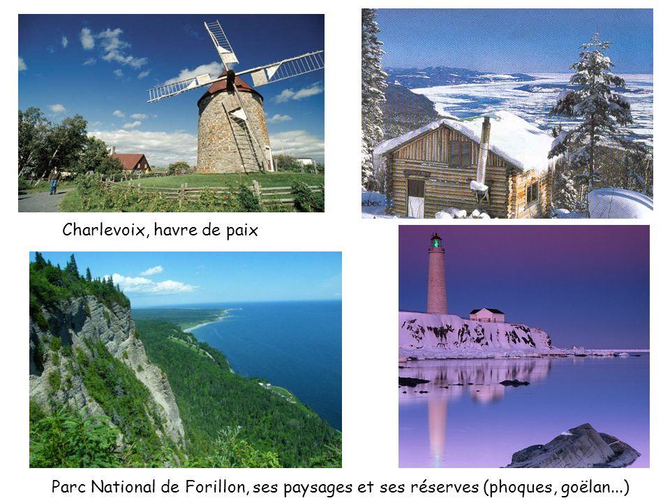 Charlevoix, havre de paix Parc National de Forillon, ses paysages et ses réserves (phoques, goëlan...)