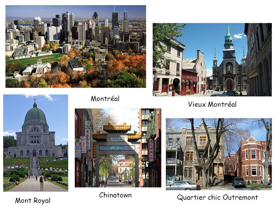 Montréal Mont Royal Chinatown Vieux Montréal Quartier chic Outremont