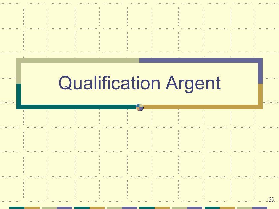 25 Qualification Argent