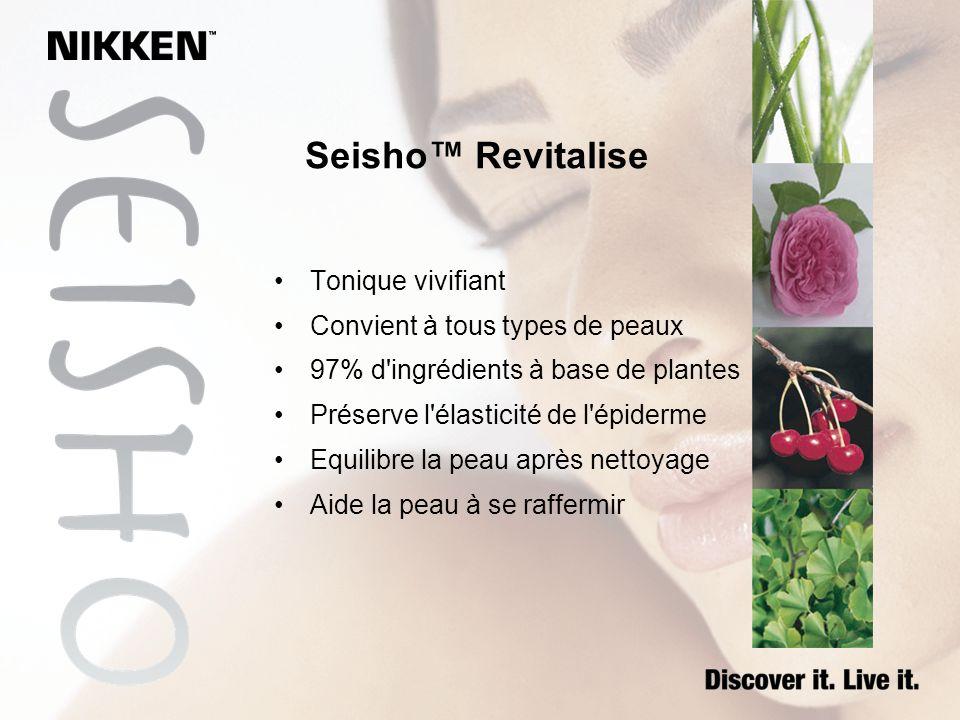 Seisho Revitalise Tonique vivifiant Convient à tous types de peaux 97% d'ingrédients à base de plantes Préserve l'élasticité de l'épiderme Equilibre l