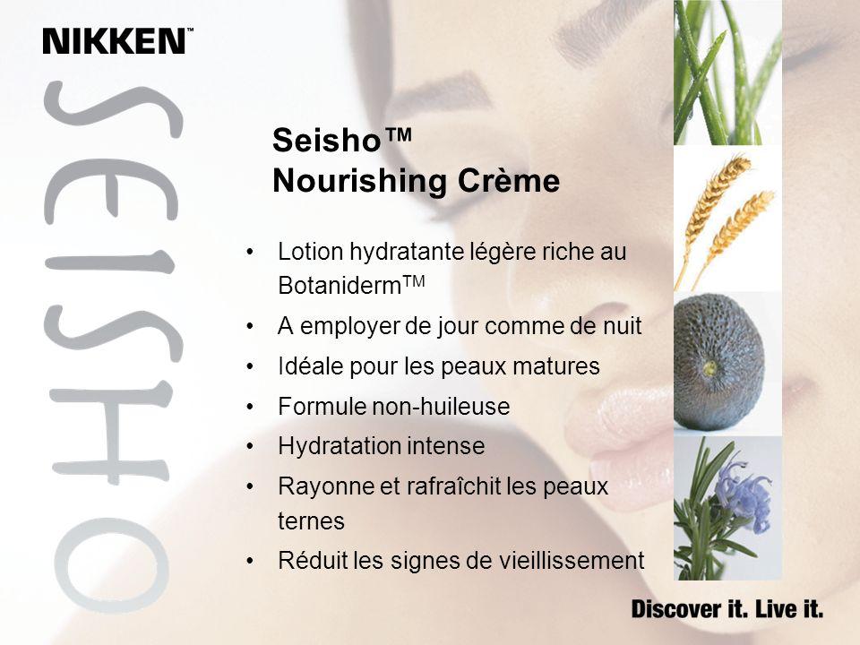 Seisho Nourishing Crème Lotion hydratante légère riche au Botaniderm TM A employer de jour comme de nuit Idéale pour les peaux matures Formule non-hui