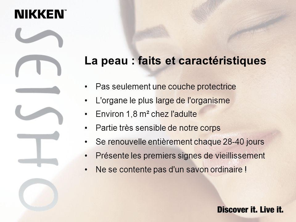 La peau : faits et caractéristiques Pas seulement une couche protectrice L'organe le plus large de l'organisme Environ 1,8 m² chez l'adulte Partie trè