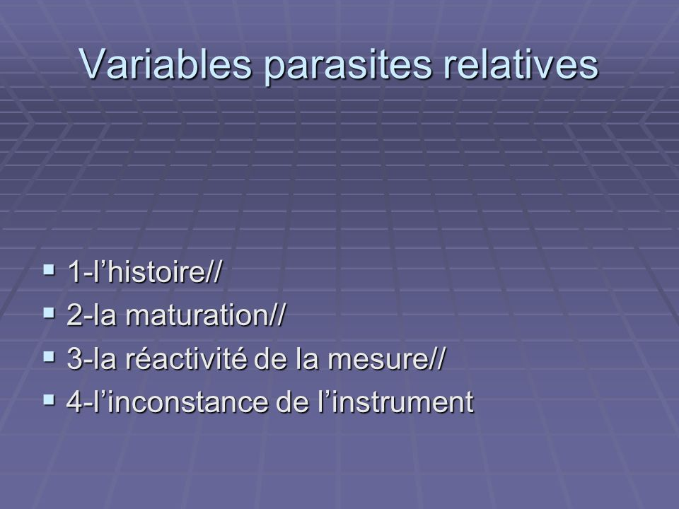 1-lhistoire// 1-lhistoire// 2-la maturation// 2-la maturation// 3-la réactivité de la mesure// 3-la réactivité de la mesure// 4-linconstance de linstr