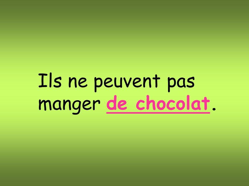 Ils ne peuvent pas manger de chocolat.