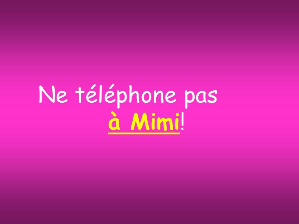 Ne téléphone pas à Mimi!