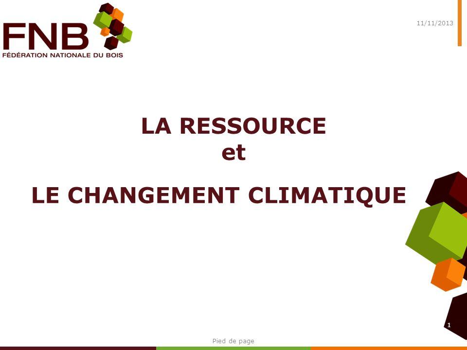 Evolution de la disponibilité totale en bois résineux français 2