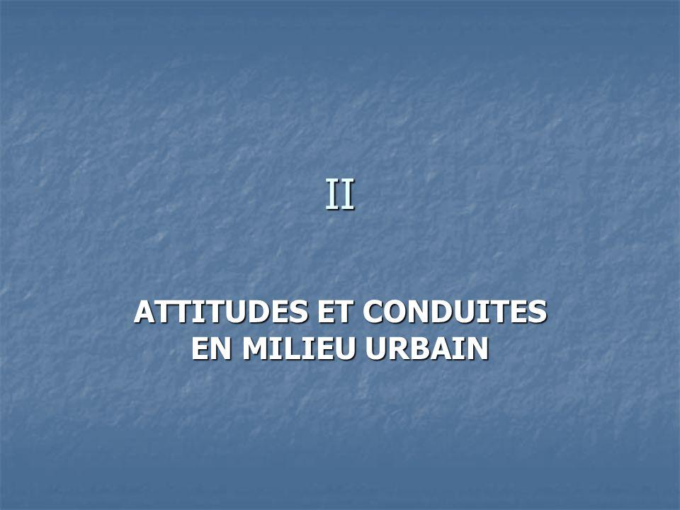 II ATTITUDES ET CONDUITES EN MILIEU URBAIN
