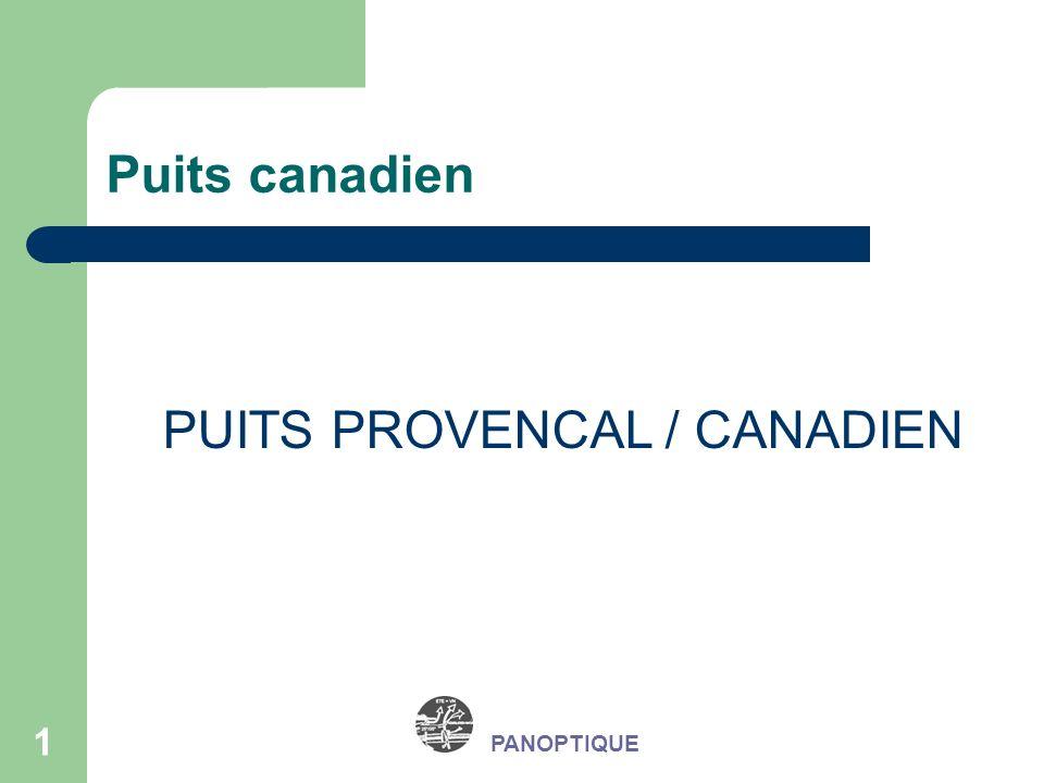22 PANOPTIQUE Association avec un système de ventilation mécanique Coût moyen dun puits canadien : Tranchées : 25 /m3 Conduits diamètre 250 mm : Grès : 90 /ml PE : 45 /ml PVC : 25 /ml