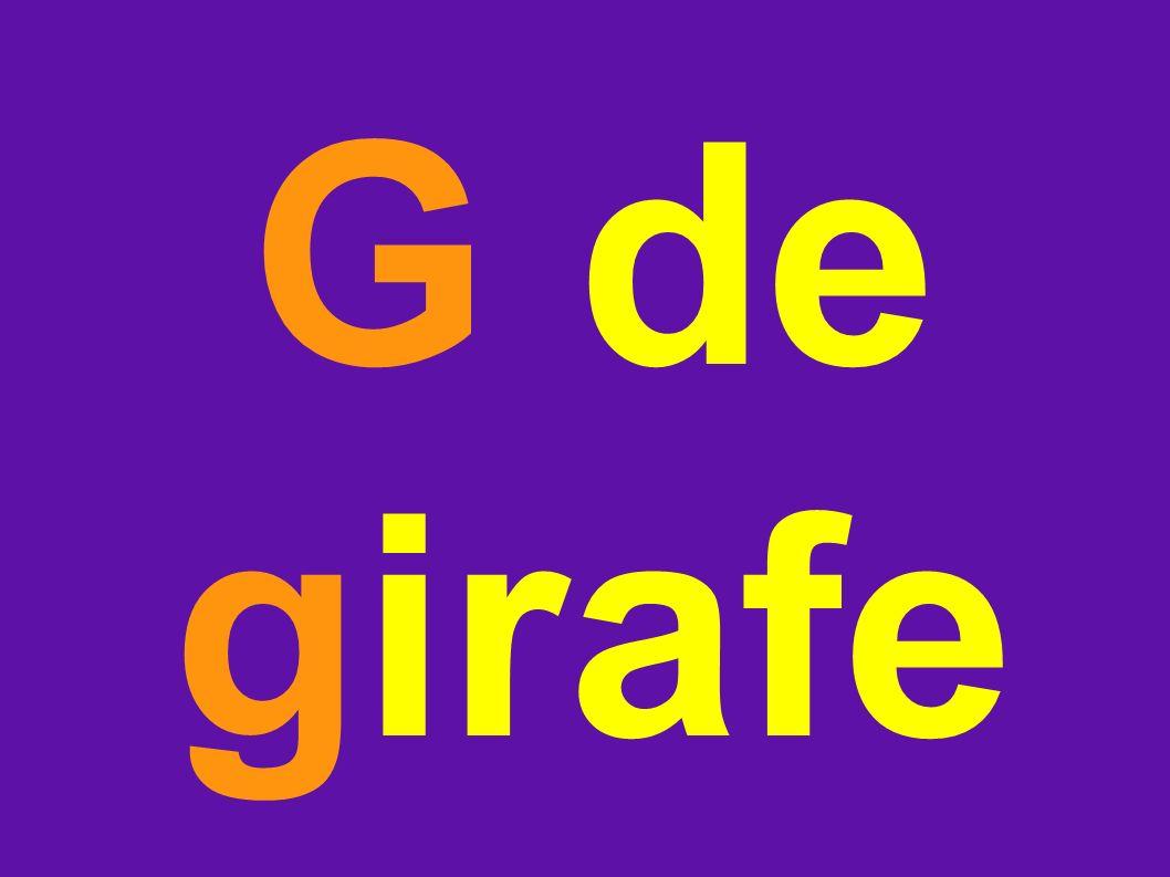 G de girafe