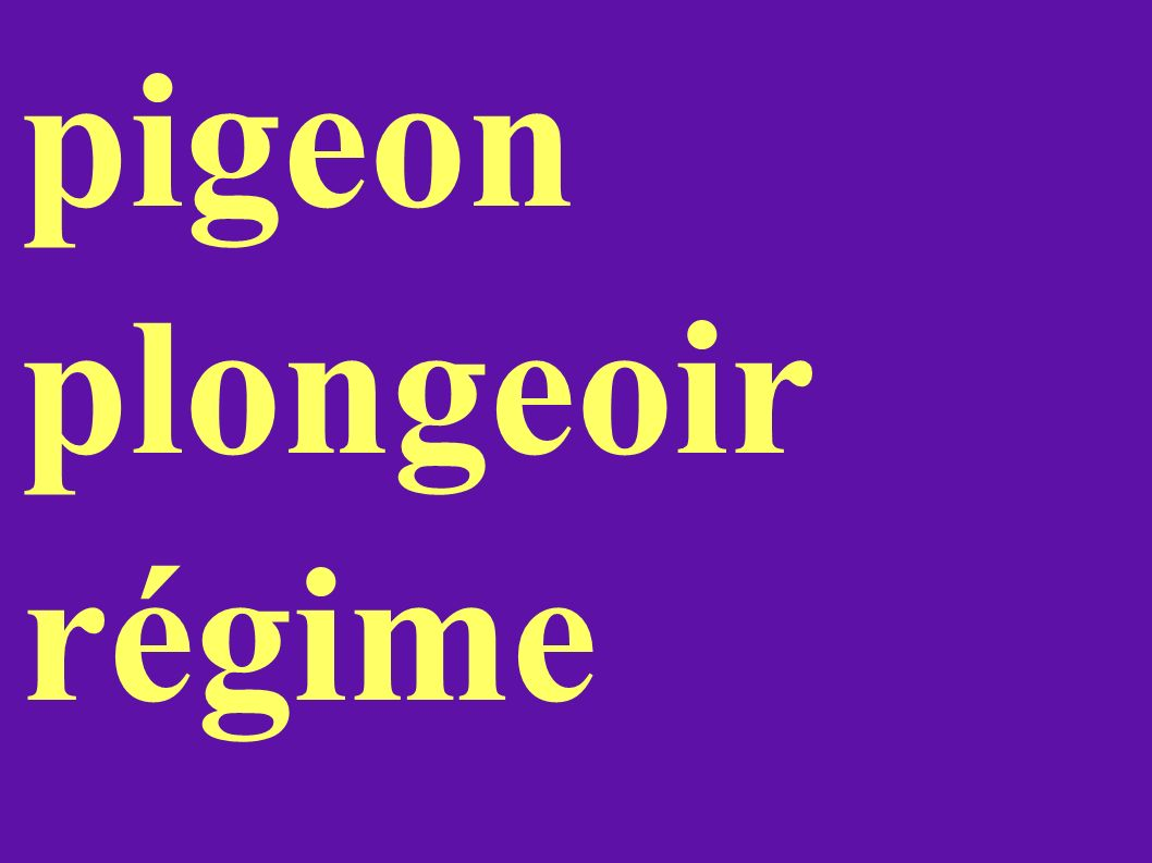 pigeon plongeoir régime