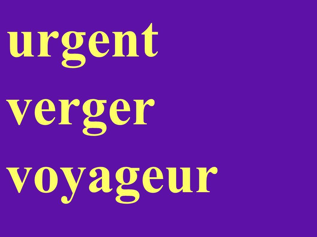urgent verger voyageur