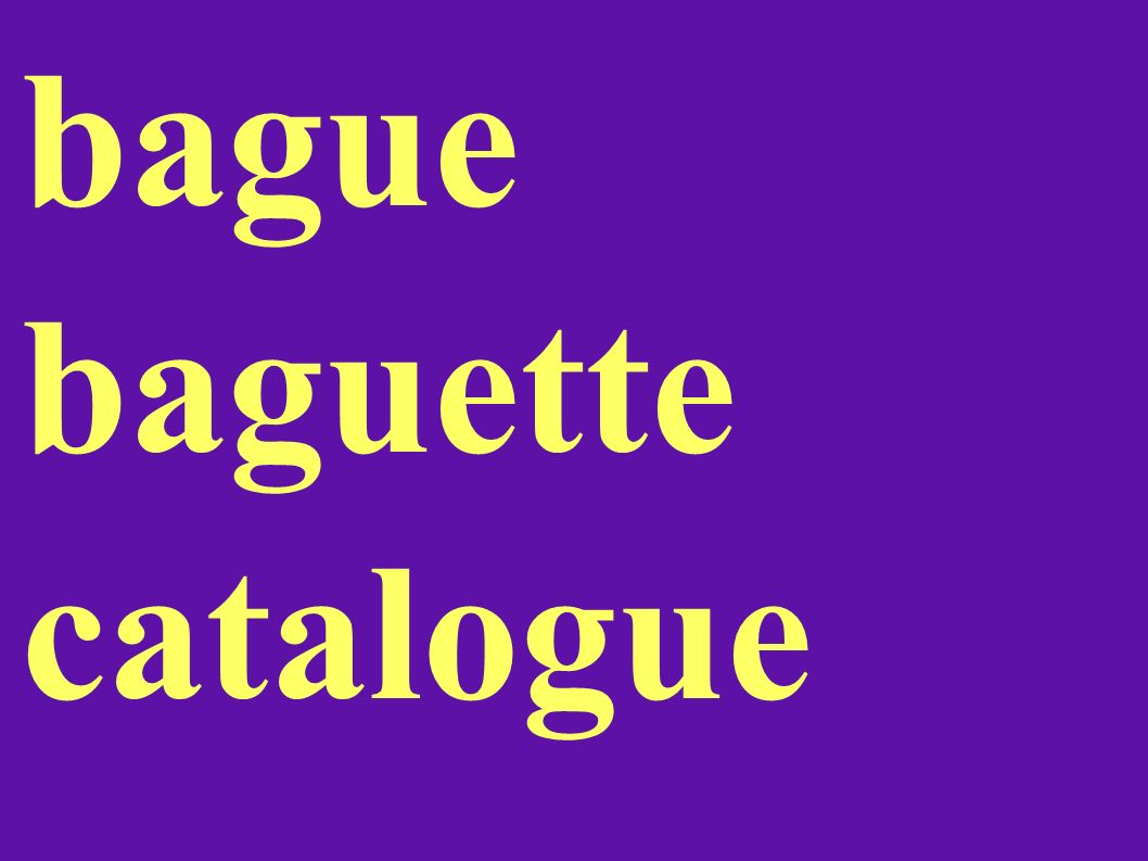 bague baguette catalogue