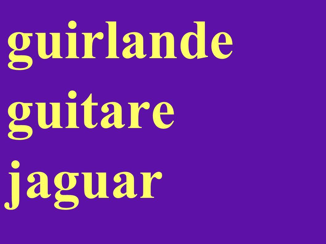 guirlande guitare jaguar