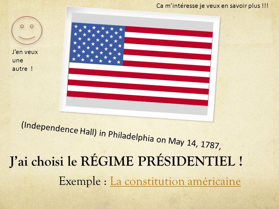 Ca mintéresse je veux en savoir plus !!! (Independence Hall) in Philadelphia on May 14, 1787, Exemple : La constitution américaineLa constitution amér