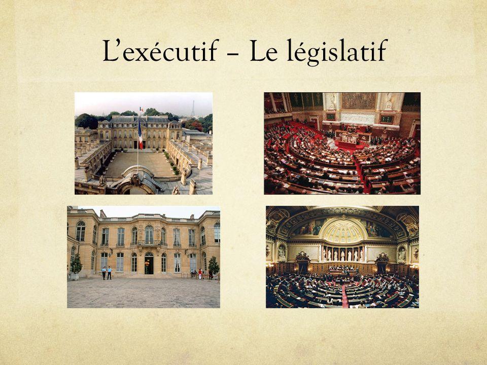 Lexécutif – Le législatif