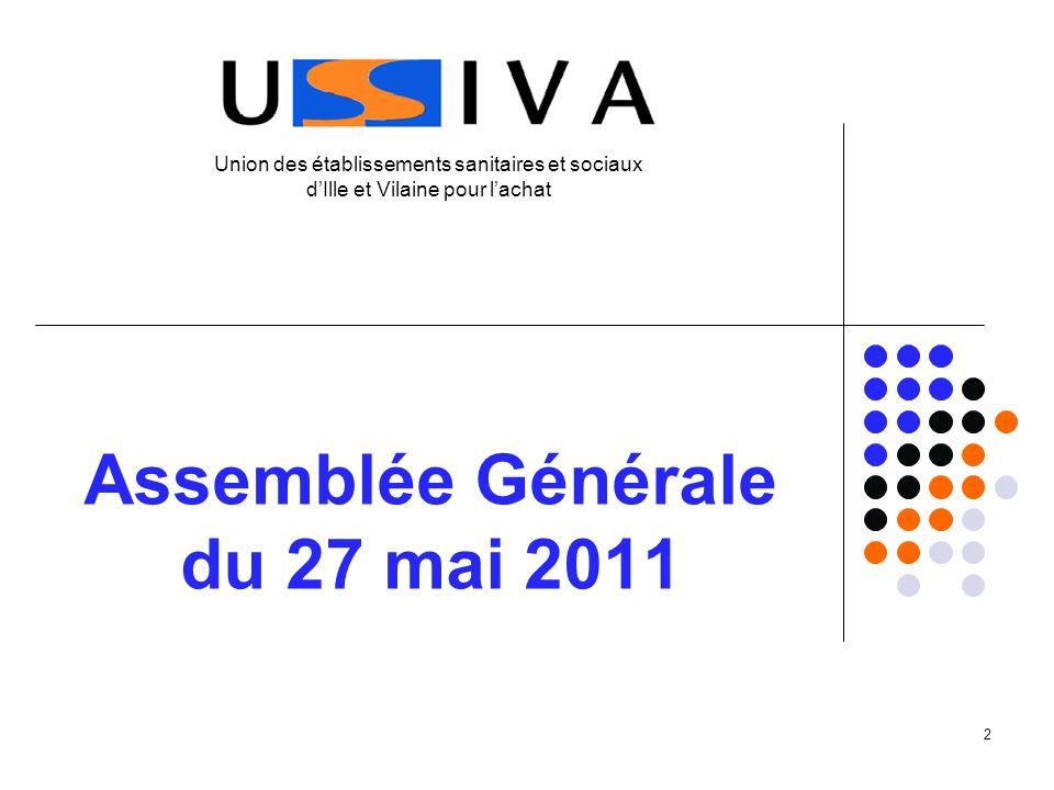 2 Assemblée Générale du 27 mai 2011 Union des établissements sanitaires et sociaux dIlle et Vilaine pour lachat